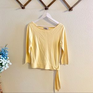 Nine West | Yellow Sweater with Side Tie